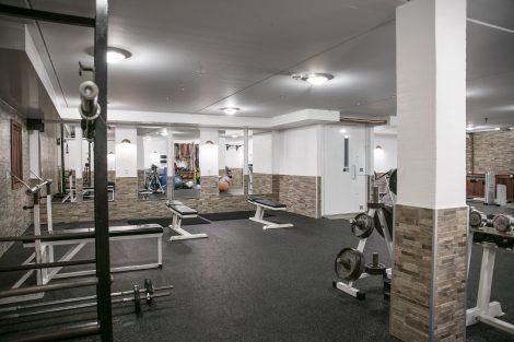 Træningsrum på Feriecenter Slettestrand.